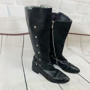 Michael Michael Kors Black Leather Tall Boots 10